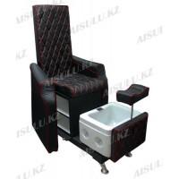 AS-9777 Кресло педикюрное c ванночкой (черно-красное)