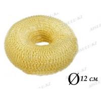 Валик для объема волос Q-66 бежевый Ø 12 см на кнопке (AISULU) (м)