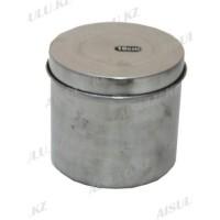 Посуда металлическая с крышкой для мелочей Ø 10 см L