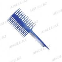 Расческа для мелирования №7005 с крючками 2-сторон. синяя AISULU