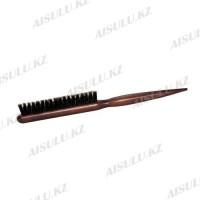Щетка для начеса № 6046 деревян., темно-корич., зубцы + щетина AISULU