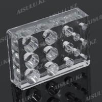Подставка под емкости для красок пластик. прозр. квадрат. 14 в 1