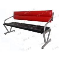 L-904 Скамейка для клиентов (черно-красная, гладкая)