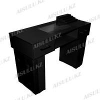 AS-11 Стол маникюрный с двумя задвижками/двухъярусный (черный)