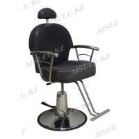 H-1016 Кресло парикмахерское с откидной спинкой (черное, матовое)