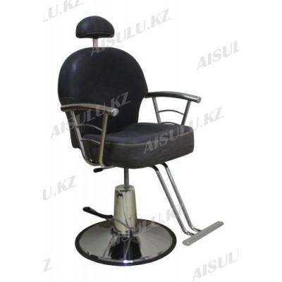 H-1016 Кресло для парикмахера с откидной спинкой (черное, матовое)