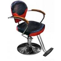 JH-8176 Кресло парикмахерское (черно-красное,