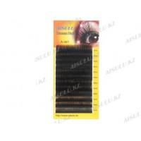 Ресницы A-481 один/натур. волосы, С/0,15 мм/mix (от 8 мм до 12 мм) AISULU
