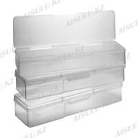 Контейнер-пенал для мелочей пластиковый прозрачный