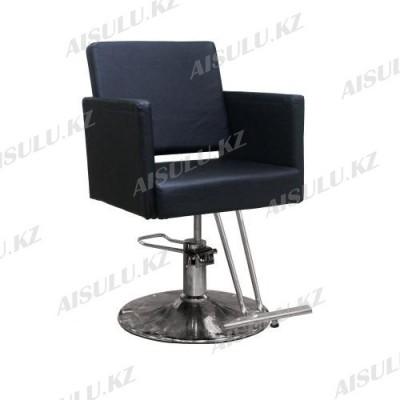 AS-8855 Кресло парикмахерское (черное, гладкое)