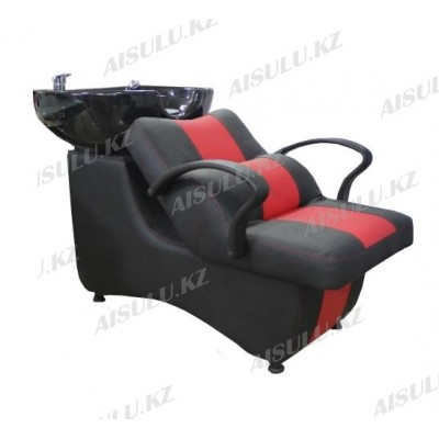 AS-006 Мойка парикмахерская с креслом (черно-красная,