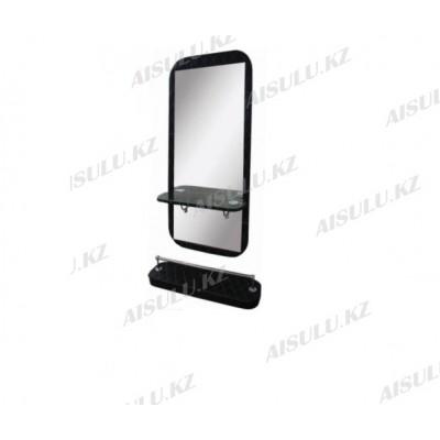 AS-5150 Зеркало навесное с подставкой для ног (черное,