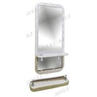 AS-5150 Зеркало навесное с подставкой для ног (белое,