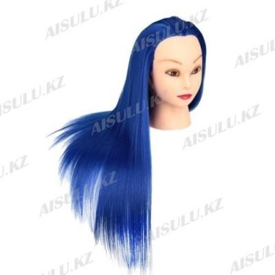 Болванка учебная для парикмахера ТМ-002 исскуст. волосы 55 см (темно-синий)
