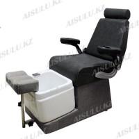 FB-9009 B Кресло педикюрное с ванночкой и откидной спинкой (черно-серое, матовое)