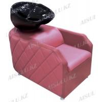 AS-007 Мойка парикмахерская с креслом (розовая)