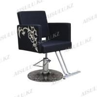 AS-8856 Кресло для парикмахера с орнаментом (черно-золотистое, гладкое)