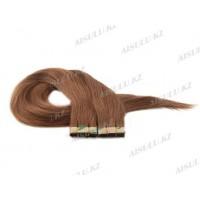 Волосы для ленточного наращивания 55 см крашен (30 лент) самоклейка №12