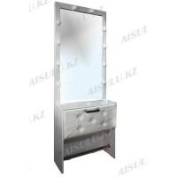 AS-1133 Зеркало для визажиста гримерное с подсветкой прямоугольное (белое)