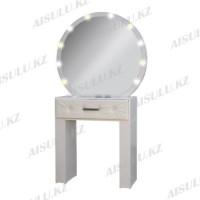 AS-1177 Зеркало для визажиста гримерное с подсветкой круглое (белое)