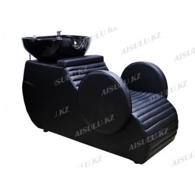 AS-6022 Мойка парикмахерская/раковина нерегулируемая (черная, гладкая)