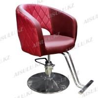 AS-7181 Кресло парикмахерское (красное, гладкое)