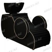 AS-6023 Мойка парикмахерская/раковина регулируемая (черно-золотистая)