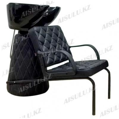 AS-601 Мойка парикмахерская с креслом (черная,