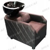 AS-007 Мойка парикмахерская с креслом (коричневая)