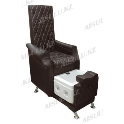 AS-9777 Кресло педикюрное c ванночкой (темно-коричневое)