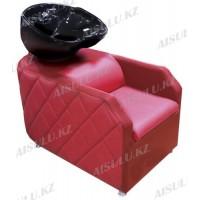 AS-007 Мойка парикмахерская с креслом (красная)