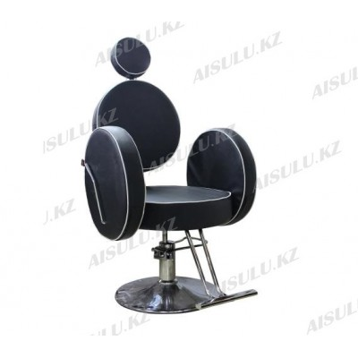 AS-6688 Кресло парикмахерское (черно-белое)