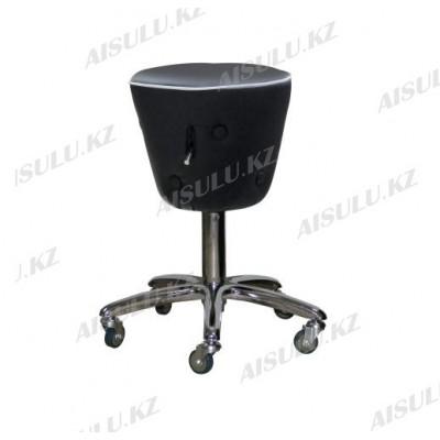 AS-3088 Стул для мастера конусный с кантом и пуговицей (черно-белый)