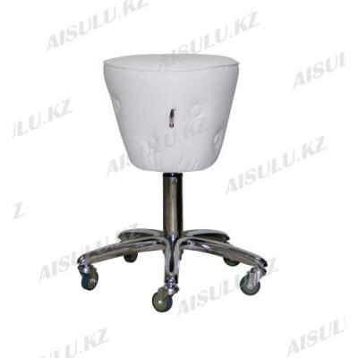 AS-3088 Стул для мастера конусный с кантом и пуговицей (белый)