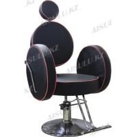 AS-6688 Кресло парикмахерское (черно-красное)
