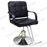 AS-8866 Кресло парикмахерское (черное, гладкое)