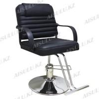 AS-8873 Кресло парикмахерское (черное, гладкое)