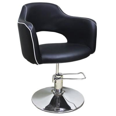 AS-7199 Кресло парикмахерское (черно-белое)