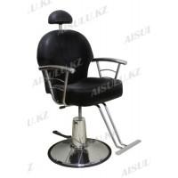 H-1016 Кресло парикмахерское с откидной спинкой (черное,