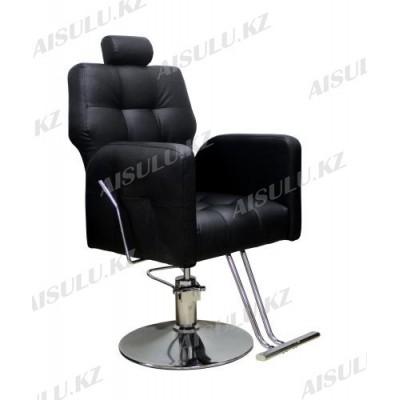 AS-8682 Кресло парикмахерское с откидной спинкой (черное, гладкое)
