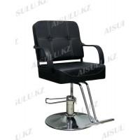 AS-8892 Кресло парикмахерское (черное, гладкое)
