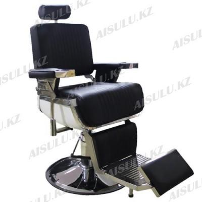 B-9207 В Кресло парикмахерское барбера (черное, гладкое)
