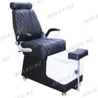 AS-9009 B Кресло педикюрное с ванночкой и откидной спинкой (черное,