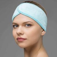 Повязка для волос махровая на липучке (1 шт)