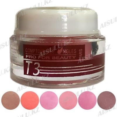 Гель для наращивания Gel UV Ouli T-3 3-в-1 Рink (биогель) 30 г
