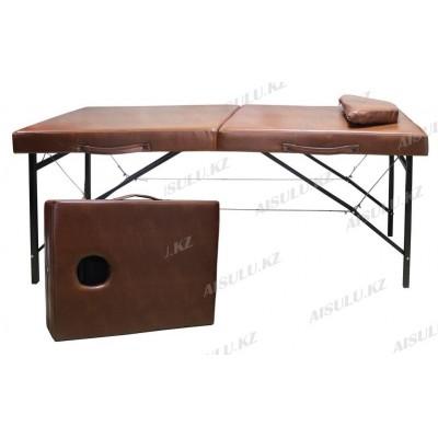 AS-358 Кушетка массажная складная (светло-коричневая)