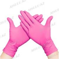 Перчатки нитриловые Gloves UNEX розовые L (100 шт.)