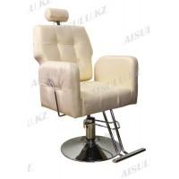 AS-8682 Кресло парикмахерское с откидной спинкой (золотистое)