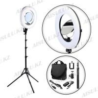 Лампа для визажиста кольцевая, LED Soft RL-18 Ø42, напольная