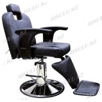 B-1008 Кресло парикмахерское для барбершопа (черное,